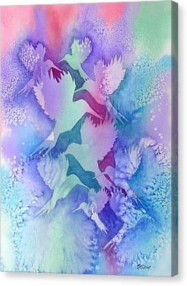 Crystal Migration Canvas Print by Marsha Elliott