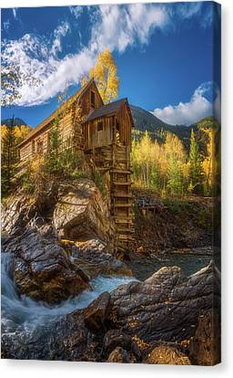 Crystal Mill Morning Canvas Print by Darren White