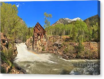 Crystal Colorado Canvas Print - Crystal Mill Panorama by Adam Jewell