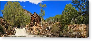 Crystal Mill Panoramic View Canvas Print by Adam Jewell