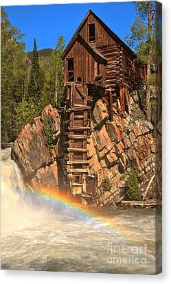 Crystal Colorado Canvas Print - Crystal Mill Rainbow by Adam Jewell