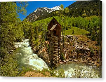 Crystal Colorado Canvas Print - Crystal Mill Summer Landscape by Adam Jewell
