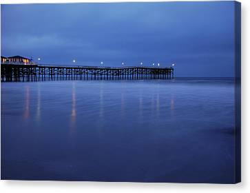 Crystal Pier Blue Canvas Print