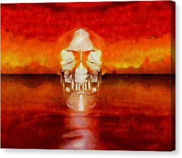 Crystal Skull Canvas Print by Esoterica Art Agency