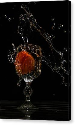 Crystal Splash Canvas Print