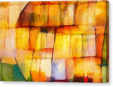 Abstract Composition Canvas Print - Crystal Symphony by Lutz Baar