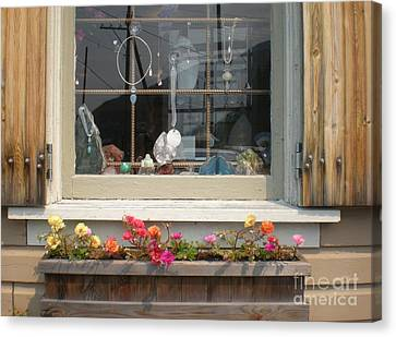 Canvas Print featuring the photograph Crystal Window by Kim Prowse