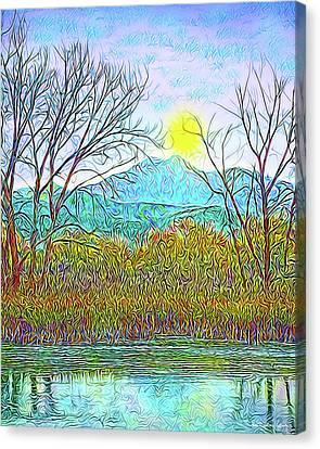 Crystalline Twilight Reflections - Boulder County Colorado Canvas Print