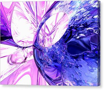 Purple Grapes Canvas Print - Crystallized Abstract by Alexander Butler
