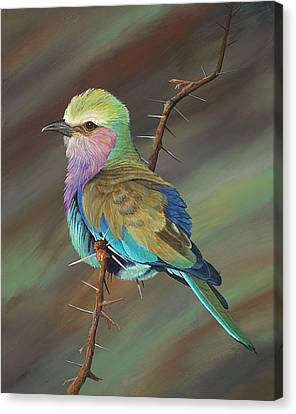 Canvas Print featuring the painting Crystal's Bird by AnnaJo Vahle