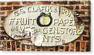 C.s. Clark Vintage Sign Canvas Print by Hal Halli