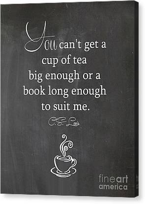 Cs Lewis Cup Of Tea Canvas Print