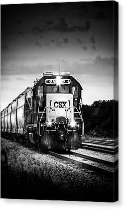 Csx Train Canvas Print - Csx 6007 by Marvin Spates