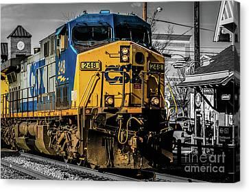 Csx Train Canvas Print - Csx Engine Gaithersburg Md by Thomas Marchessault
