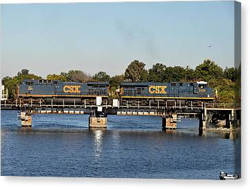 Canvas Print featuring the photograph Csx On Mills Bayou by John Black