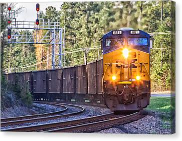 Csx Train Canvas Print - Csx Train 2 by Gestalt Imagery