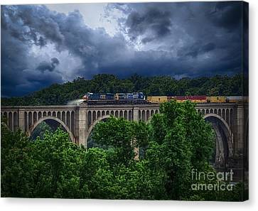 Csx Train Trestle Canvas Print