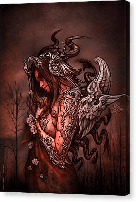 Angel Canvas Print - Cthluhu Princess by David Bollt