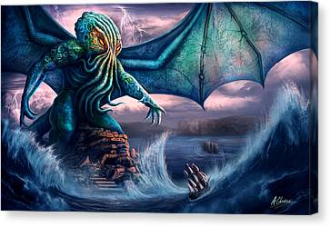 Cthulhu Canvas Print by Anthony Christou