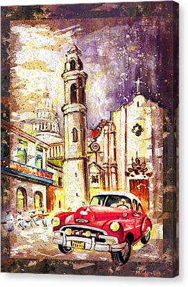 Cuba Authentic Madness Canvas Print by Miki De Goodaboom
