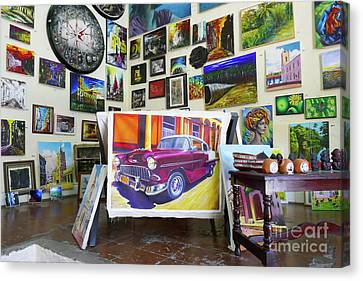 Cuba One Artists Studio Canvas Print by Wayne Moran