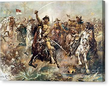 Juans Canvas Print - Cuba: Rough Riders, 1898 by Granger