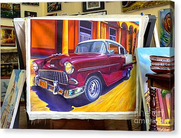 Cuban Art Cars Canvas Print by Wayne Moran
