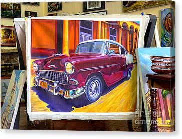 Cuban Art Cars Canvas Print