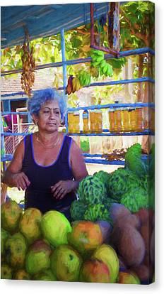 Cuban Fruit Stand II Canvas Print