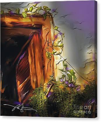 Cuban Shuttered Window Canvas Print by Bob Salo