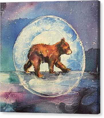 Canvas Print featuring the painting Cubbie Bear by Christy Freeman