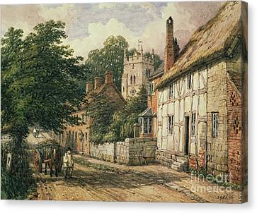 Cubbington In Warwickshire Canvas Print by Thomas Baker