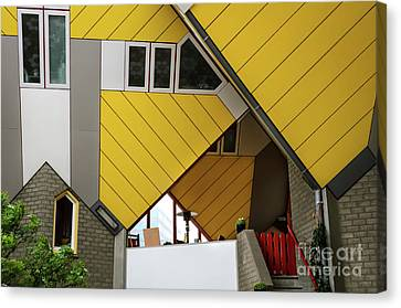 Cube Houses Detail In Rotterdam Canvas Print by RicardMN Photography