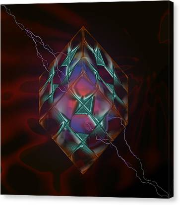 Cube With Thunders 01 Canvas Print