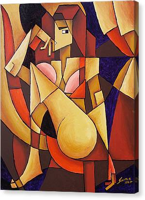 Cube Woman Canvas Print