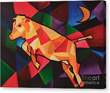 Cubism Cow Canvas Print
