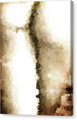 Cubist Back Canvas Print by Andrea Barbieri