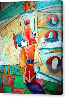 Cubist Cookie Canvas Print by Charlie Spear
