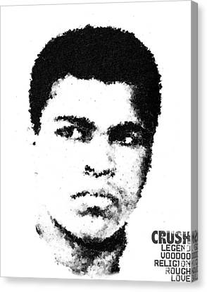 Cubist Muhammad Ali Canvas Print by Andrea Barbieri