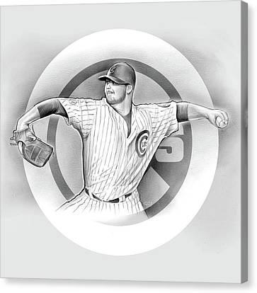 Cubs 2016 Canvas Print by Greg Joens