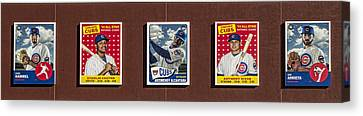 Cubs Card Collection Canvas Print by Stephen Stookey