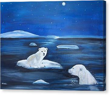 Cubs Free Ride Canvas Print by Aleta Parks