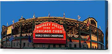 Ballpark Canvas Print - Cubs World Series Champs by Andrew Soundarajan