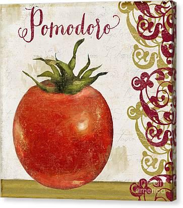 Cucina Italiana Tomato Pomodoro Canvas Print by Mindy Sommers