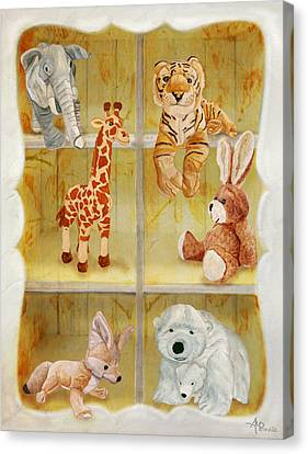 Buffet Canvas Print - Cuddly Clubhouse by Angeles M Pomata