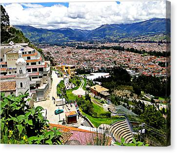 Cuenca Ecuador As Seen From Turi Canvas Print by Al Bourassa