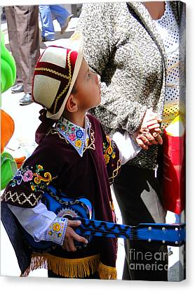 Cuenca Kids 155 Canvas Print by Al Bourassa