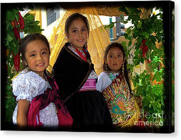 Cuenca Kids 860 Canvas Print by Al Bourassa