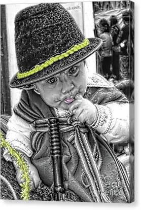 Cuenca Kids 888 Canvas Print by Al Bourassa