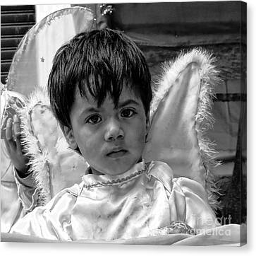 Canvas Print featuring the photograph Cuenca Kids 893 by Al Bourassa